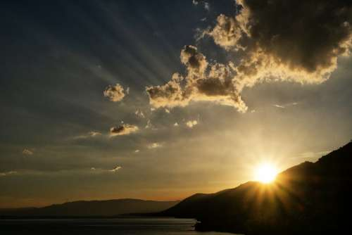 Liguria Genoa Italy Landscape Sunset