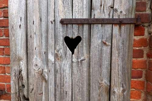 Loo Plumsklo Village Heart Toilet Door Klo Cottage