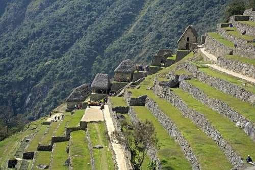Machu Picchu Cuzco Per Peru Travel Mountain Inca