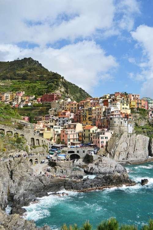 Manarola Cinqueterre Italy Colorful Liguria Italia