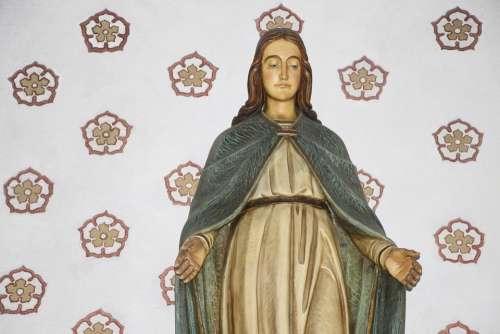 Maria Faith Christianity Hohkreuz Statue Catholic