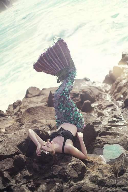 Mermaid Fantasy Girl Sea Woman Water Female