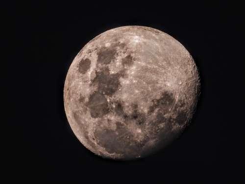 Moon Half Moon Space Crescent Moonlight Luna