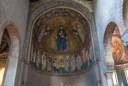 Mosaic Church Christianity Gothic Rhaeto Romanic