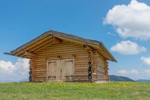 Mountain Hut Block House Hut Log Cabin Woodhouse