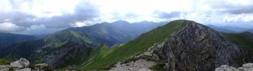 Mountains Nature Tatry Air Clouds Tops Holidays
