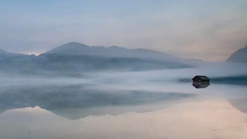 Mythical Mist Reflection In Water Fog Nature