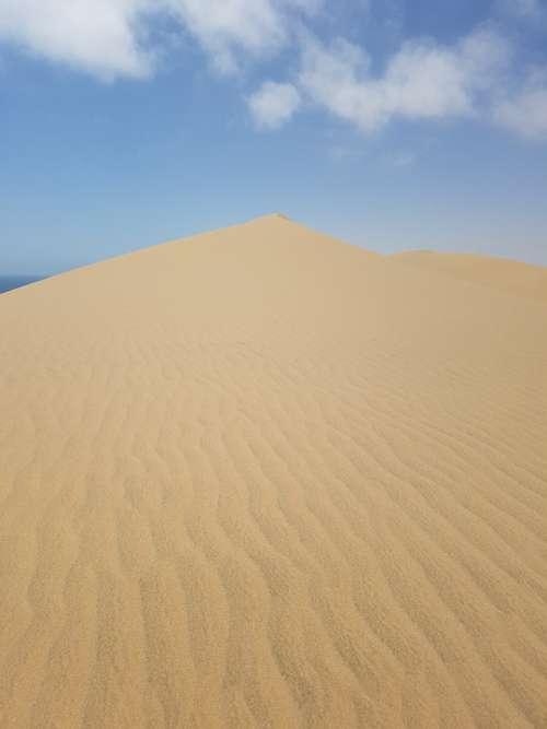 Namibia Sand Dunes Desert Sun Landscape
