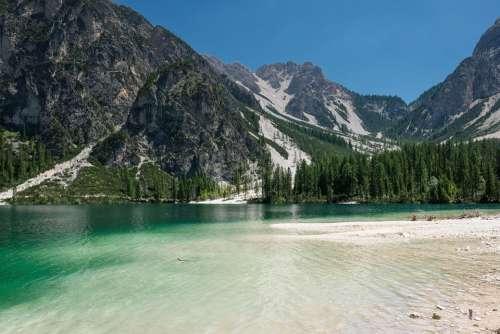 Nature Landscape Lake Mountains Mountain World