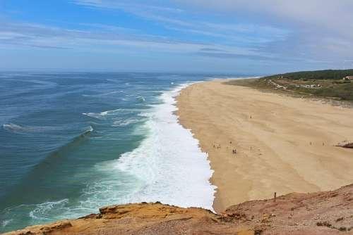 Nazare Portugal Coast North Beach Wave