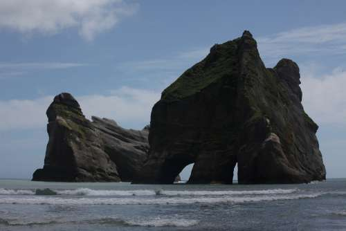 New Zealand South Island Wharariki Beach Rock