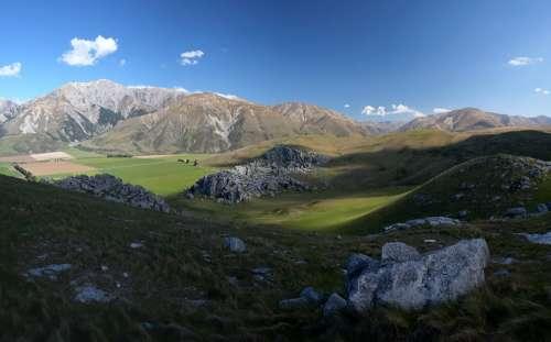 New Zealand Castle Hill Nature Mountain Landscape