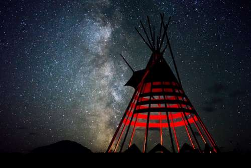 Night Milkyway Tipi Sky Star Space Universe