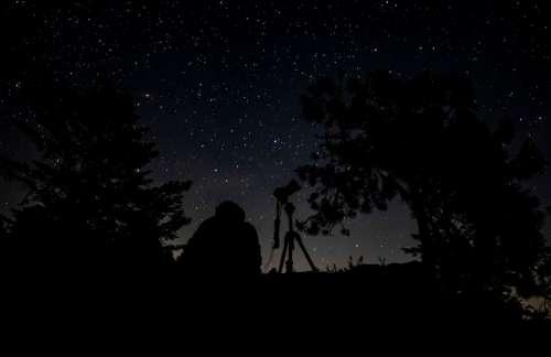 Night Star Picture Silhouette Dark Nature