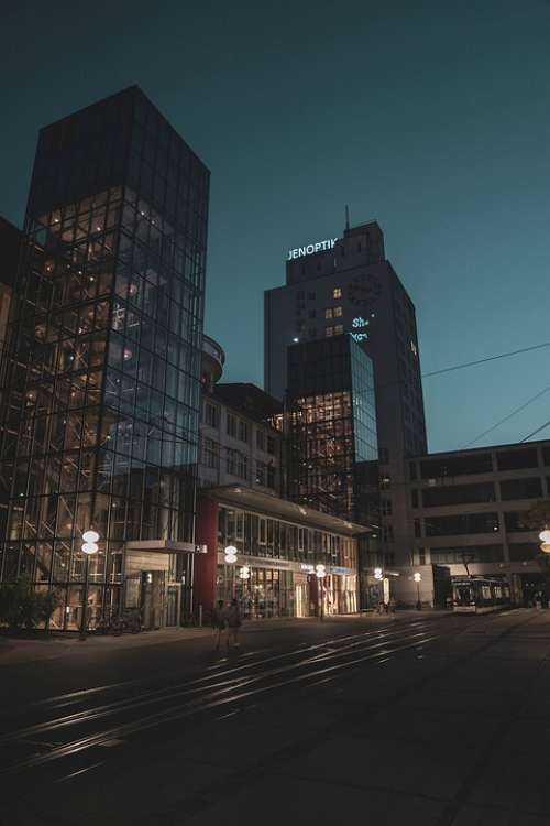 Night Jena City Night Photograph Lights City