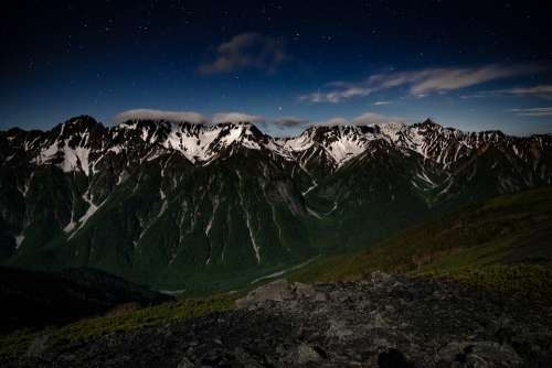 Night View Mountain 穂高岳 Elevation 3190M Adam'S Peak