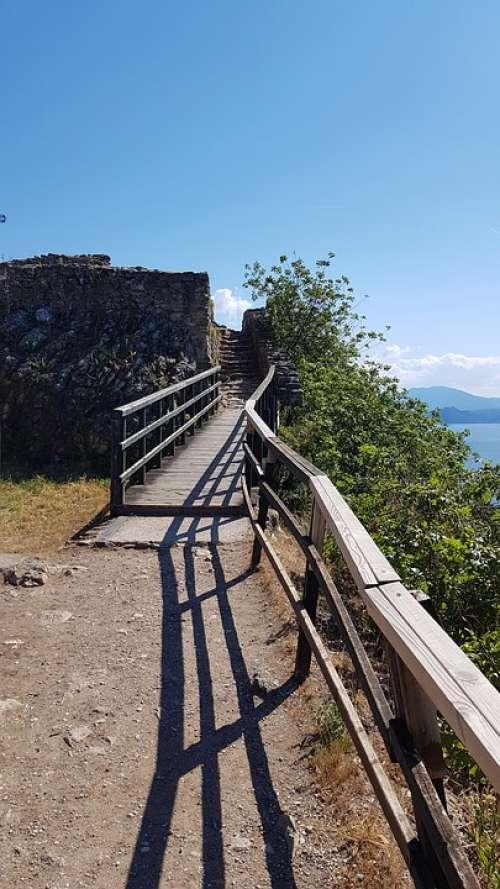Old History Building Trap Italy Area Lake Garda