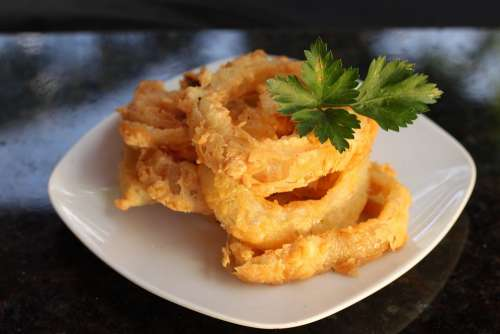 Onion Frying Contour Burger Food Cook Fried