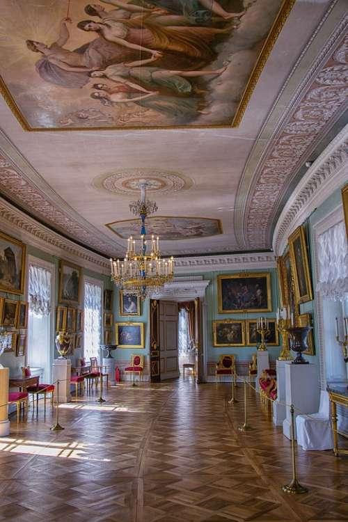 Palace Museum Residence Interior Russia Pavlovsk