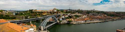 Panorama Porto Portugal Bridge Louis Duero City
