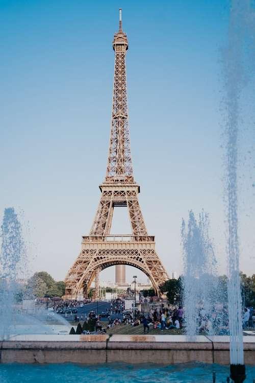 Paris Eiffel Tower France Architecture Landmark