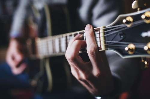 People Chord Guitar Hand Man Music Neck Playing