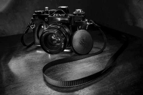 Photo Bw Zenith Old Model Retro View Lens