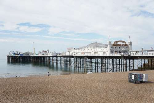 Pier Brighton Sea England Beach Coast Seaside Uk