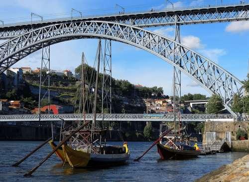 Porto Portugal Bridge Boat
