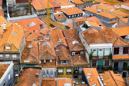 Porto Portugal The Roof Of The Tile City Old Town