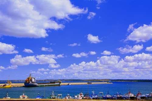 Porto Clouds Sky Sea Ship Boat Gallipoli Salento