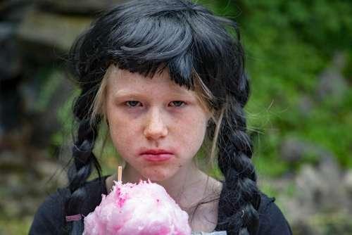 Portrait Candy Cotton Candy Children Face