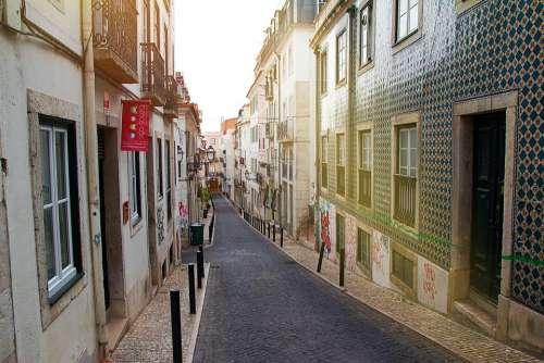 Portugal Lisbon Barrio Alto Architecture City