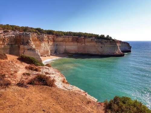 Portugal Algarve Vacations Travel Sea Ocean