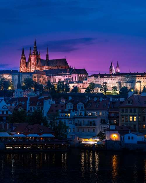 Prague Cathedral Gothic Church Czech City Vitus
