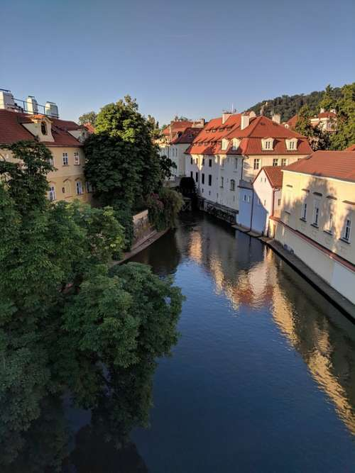 Prague Water River Canal City