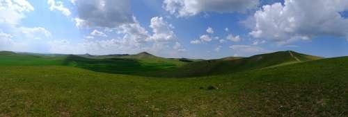 Prairie Blue Sky Scenery