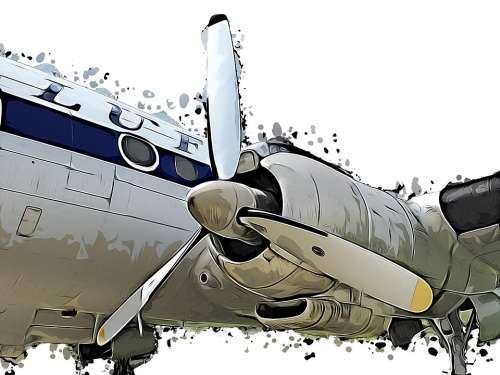 Propeller Aircraft Cartoon Drawing Propeller Plane