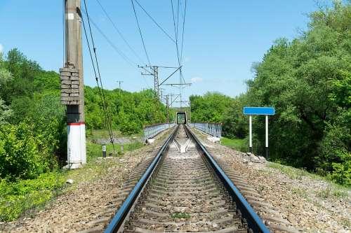 Railroad Railway Travel Track Journey Rail Rails
