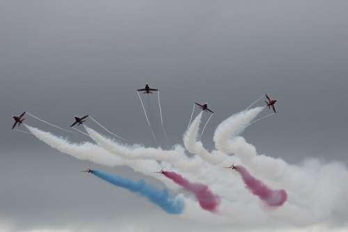 Red Arrows Display Jet Smoke Formation Aerobatic