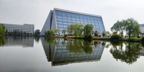 Reflection Building Architecture Modern Sky Lights