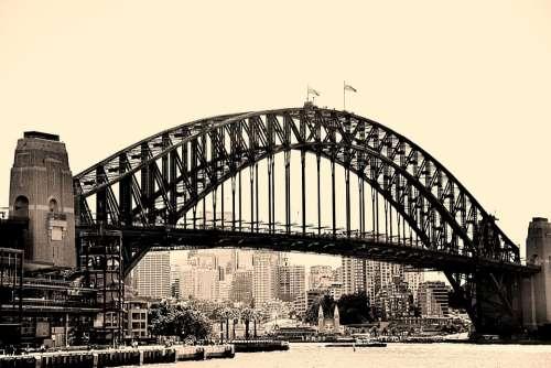 River Bridge Arch Through Bridge Iron Bridge