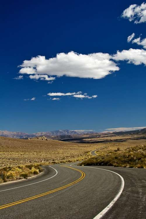 Road California Usa Highway America Route Asphalt