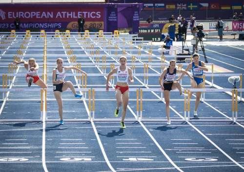 Running Hurdles Athletics U23 Em Competition Ass