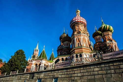 Russia Moscow Cathedral Architecture Tourism