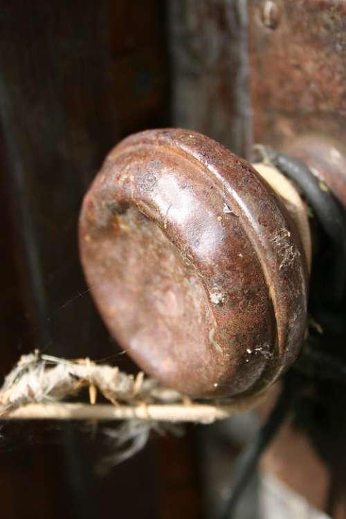 Rusty Vintage Antique Doorknob Deserted Old Rust