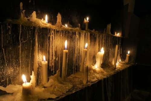 Sailing Fire Church Flame Candles Advent
