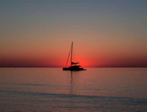 Sailing Boat Sea Sail Boat Water Ocean Vacations