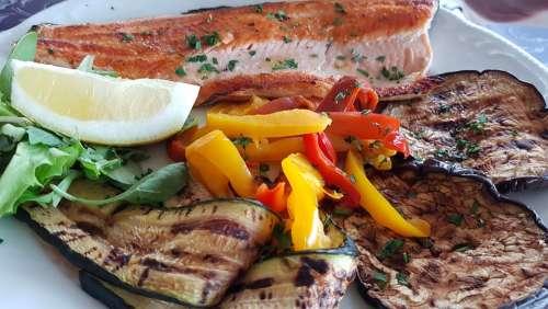 Salmon Food Restaurant Roast Paprika Fish Dish
