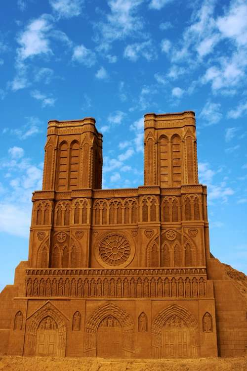 Sand Sculpture Sand Church Art Statue Artwork